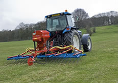 Grass Harrow working