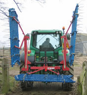 Narrow Folding Grass Harrow